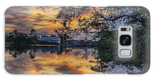 Cotton Bayou Sunrise Galaxy Case by Michael Thomas