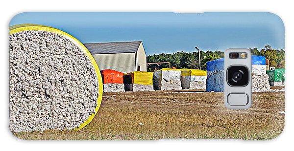 Cotton Harvest Galaxy Case by Linda Brown