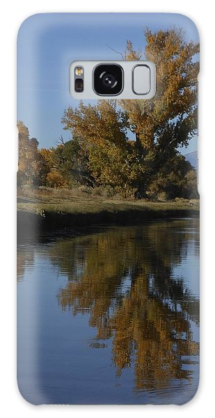Cottonwood Trees And Reflections Galaxy Case