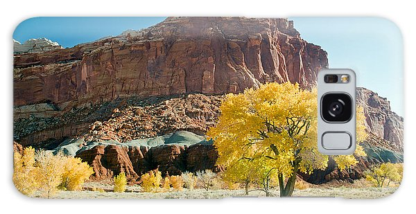 Cottonwoods In Fall The Castlecapitol Reef National Park Galaxy Case