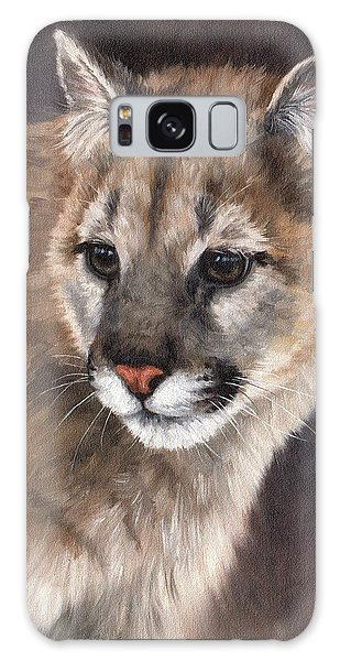 Cougar Cub Painting Galaxy Case