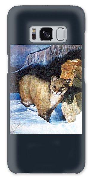 Cougar In Snow Galaxy Case