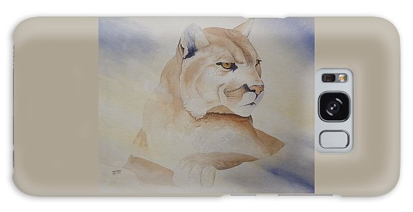 Cougar On Watch Galaxy Case by Richard Faulkner