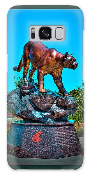 Cougar Pride Sculpture - Washington State University Galaxy Case by David Patterson