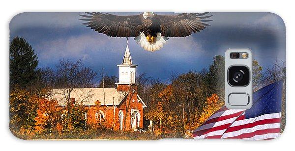 country Eagle Church Flag Patriotic Galaxy Case by Randall Branham