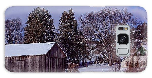 Country Farm In Winter Galaxy Case