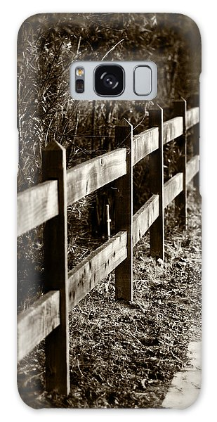 Country Fence Sepia Galaxy Case