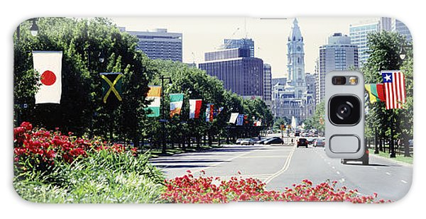 Martin Luther Galaxy Case - Country Flags On Trees Along Martin by Panoramic Images