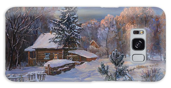 Country House In Winter Galaxy Case