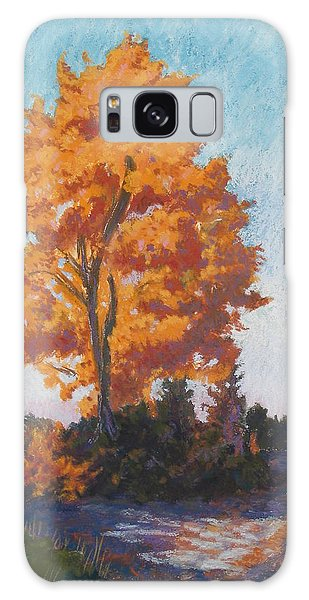 Country Road Cold Fall Morning Galaxy Case