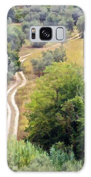 Country Road Of Tuscany Galaxy Case