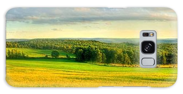Country Road Panorama Galaxy Case by Ed Roberts
