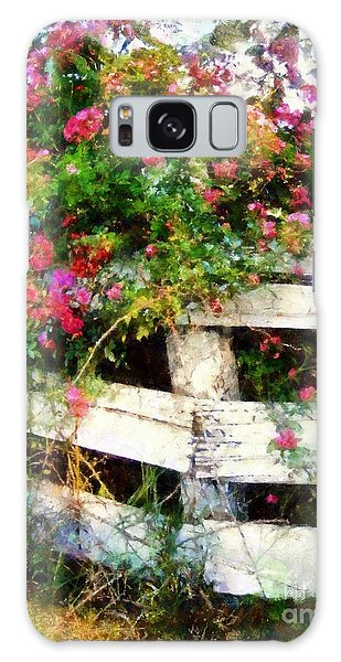 Country Rose On A Fence 3 Galaxy Case