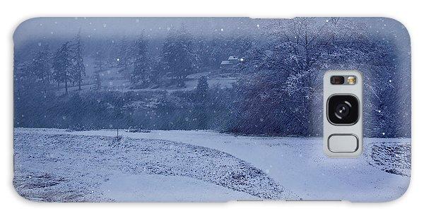 Country Snowstorm Landscape Art Prints Galaxy Case by Valerie Garner