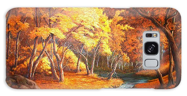 Country Stream In The Fall Galaxy Case by Loxi Sibley
