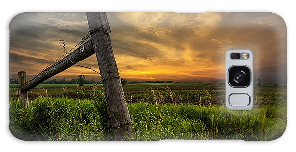 Country Sunrise Galaxy Case by Aaron J Groen