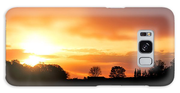 Country Sunset Silhouette Galaxy Case