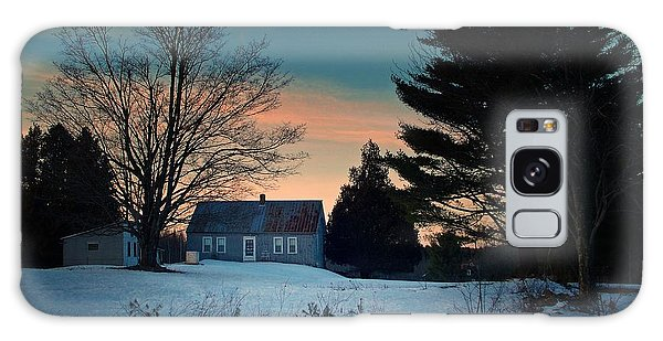 Countryside Winter Evening Galaxy Case