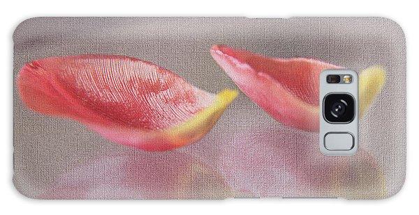 Couple Of Red Tulip Petals Galaxy Case by Eden Baed