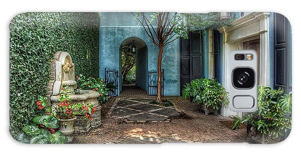 Courtyard At Rainbow Row Galaxy Case