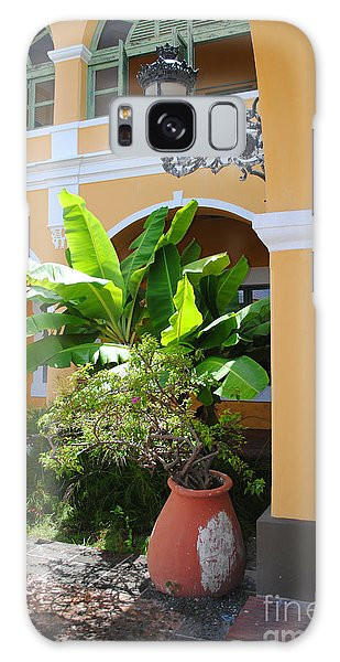 Courtyard Old San Juan Galaxy Case