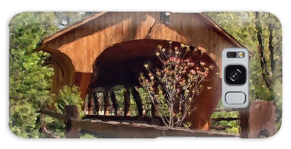 Covered Bridge At Olmsted Falls-spring Galaxy Case