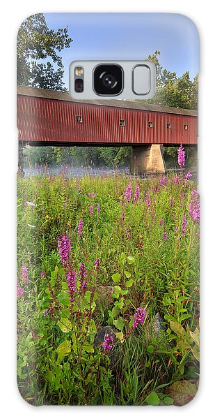 Covered Bridge West Cornwall Galaxy Case