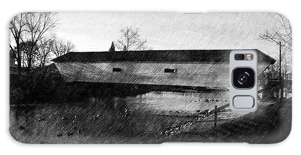 Covered Bridge Elizabethton Tennessee C. 1882 Galaxy Case