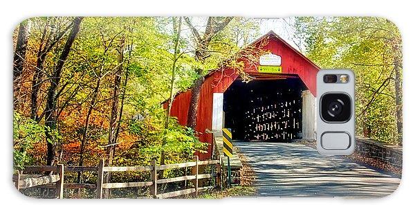 Covered Bridge In Bucks County Galaxy Case