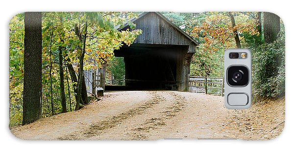 Covered Bridge In October Galaxy Case by Vinnie Oakes