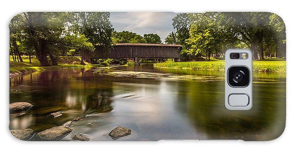Covered Bridge Long Exposure Galaxy Case