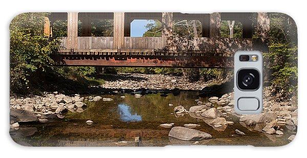 Covered Bridge Near Jamaica Vermont Galaxy Case