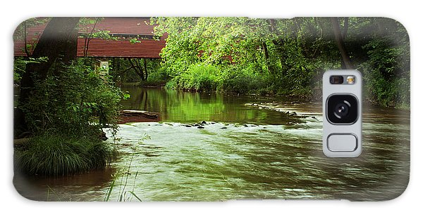 Covered Bridge Over French Creek Galaxy Case by Michael Porchik