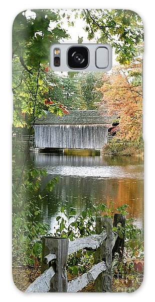Covered Bridge Over The Lake Galaxy Case by Vinnie Oakes