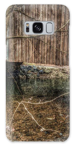 Covered Bridge Snowy Day Galaxy Case by Susan Maxwell Schmidt