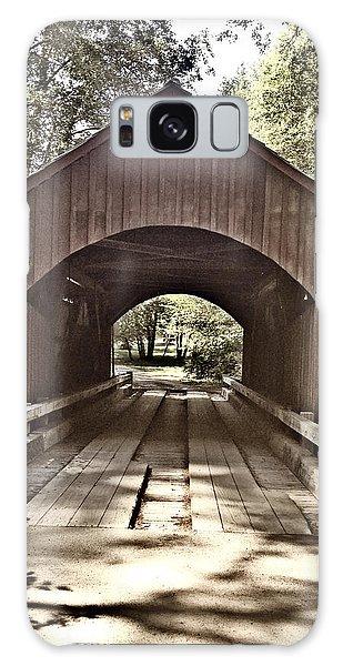 Covered Bridge Yachats Oregon Galaxy Case