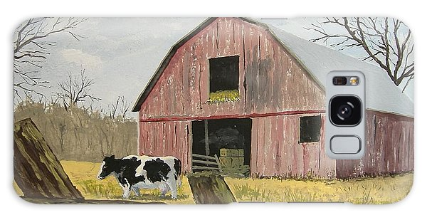 Cow And Barn Galaxy Case