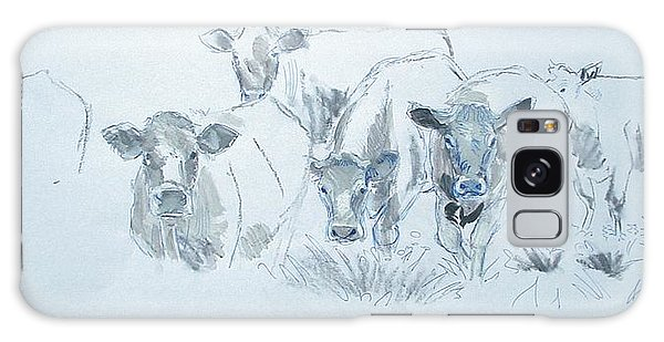 Cow Drawing Galaxy Case