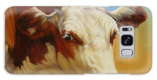 Cow Face Galaxy Case by Margaret Stockdale