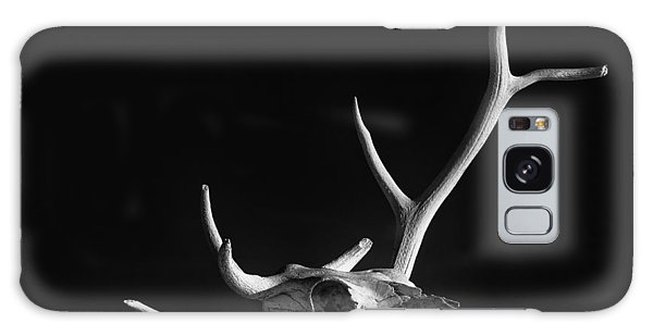 Cow Skull And Antlers Galaxy Case