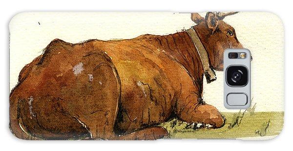 Bull Art Galaxy Case - Cow In The Grass by Juan  Bosco