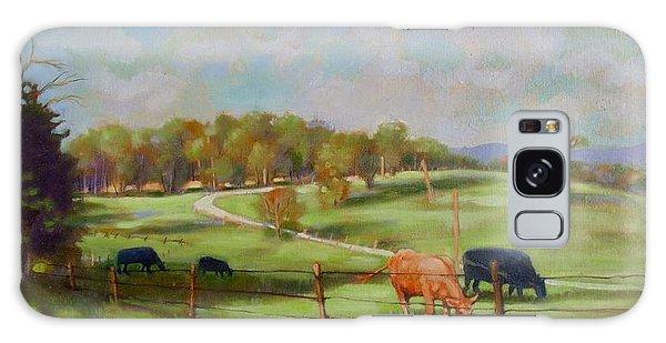 Cow Landscape Galaxy Case by Janet McGrath