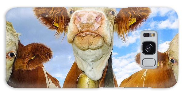 Cow Looking At You - Funny Animal Picture Galaxy Case