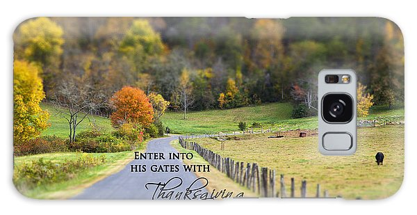 Cow Pasture With Scripture Galaxy Case
