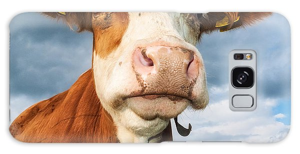 Cow Portrait Galaxy Case