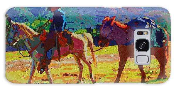 Cowboy And Pack Mule 2 Galaxy Case