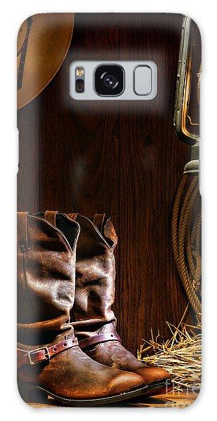 Cowboy Boots At The Ranch Galaxy Case