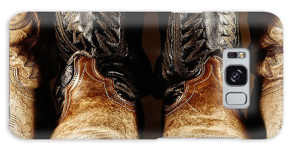 Cowboy Boots In High Contrast Light Galaxy Case