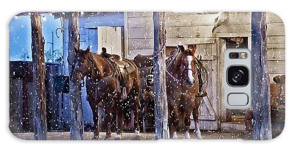 Cowboy Christmas Galaxy Case