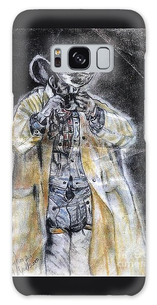 Cowboy Drinking Coffee Galaxy Case by Francine Heykoop
